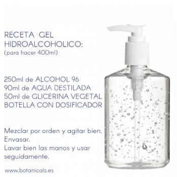 Receta Gel Hidroalcoholico Higienizante Manos